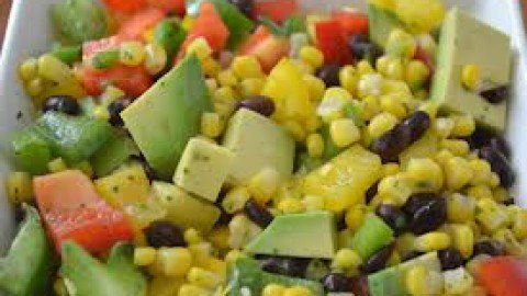 Spicy and Sweet Summer Chopped Salad