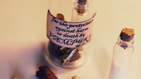 Good Luck Witches Bottle