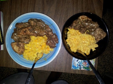 Jerk Chicken Breast with Mac & Cheese :)