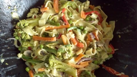 Fettuccine & Vegetables
